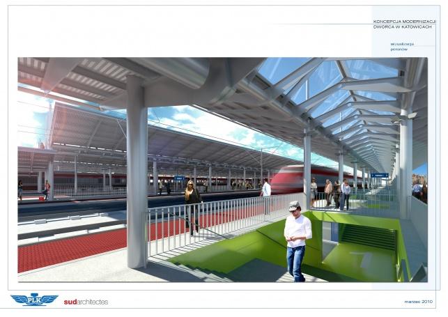 Perony - dworzec Katowice - Platforms - zdjęcie 2
